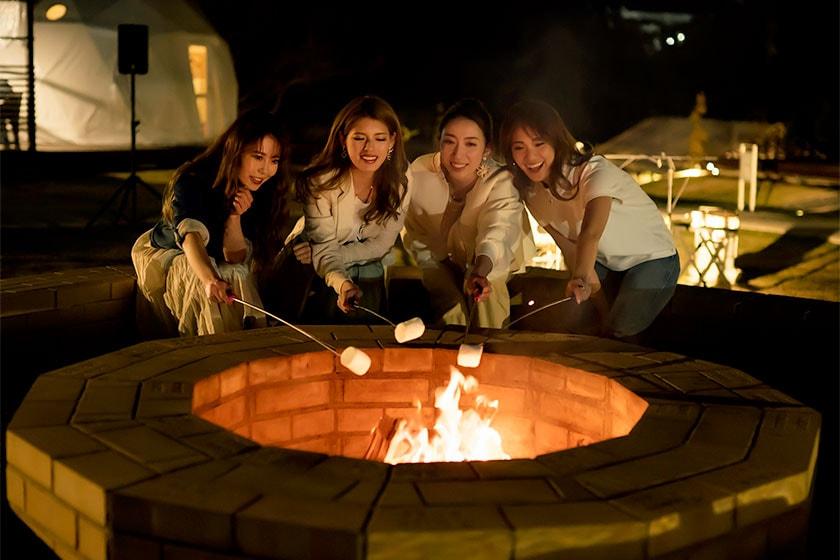 20:00~21:00まで中央広場にある焚き火スペースでキャンプファイヤーが楽しめます。